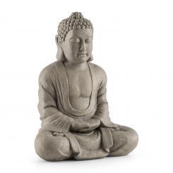 Siddhartha Skulptur 60cm Fiberglaszement Natursteinoptik