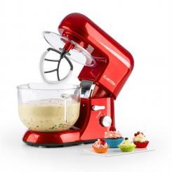Bella Rossa 2G Küchenmaschine 1200W 2,5/5 Liter Glasschüssel rot Rot