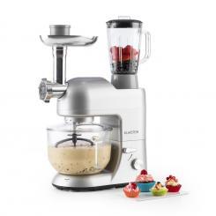 Lucia Argentea 2G Küchenmaschine Mixer Fleischwolf 1200W BPA-frei Silber