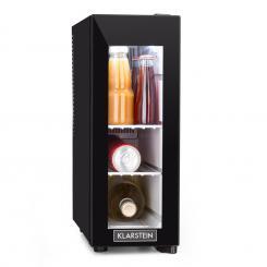 Frosty 13L Weinkühlschrank 8-18°C Glastür 35dB kompakt schwarz