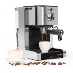 Passionata 15 Espressomaschine 15 bar Capuccino Milchschaum silber Silber