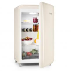 PopArt-Bar Creme Kühlschrank 136l Retro-Design 3 Ebenen Gemüsefach A+ Creme