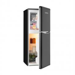 Monroe L Kühlschrank 70l Kühlfach 38l Gefrierfach Retrolook schwarz Schwarz