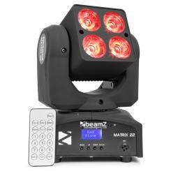 Matrix 22 Quad-Movinghead 4x10W CREE-RGBW-LEDs 9-Gobos 7-Farben DMX