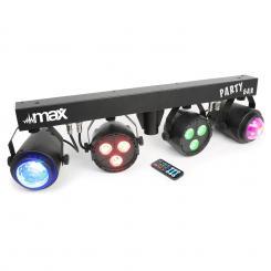 LED-Partybar 2xPAR-RGBW-LEDs + RGBW-Jellball inkl. Stativ & IR-Fernbedienung