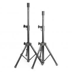 PA Lautsprecherstativ-Paar 2xBoxenständer Flansch 69-135cm schwarz