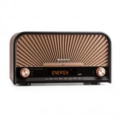 Glastonbury Retro-Stereoanlage Micro-Anlage Nostalgie-Radio DAB+/UKW-Tuner Bluetooth CD-Player USB MP3 Fernbedienung