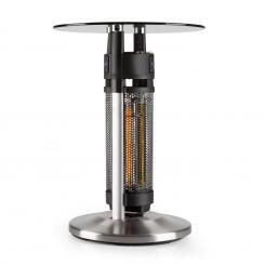 Primal Heat 65 Bistrotisch-Heizstrahler Karbon-IR-Heizelement 1200W LED 65cm Glas 65 cm