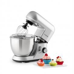 Bella Pico Mini-Küchenmaschine 550 W 6 Stufen 4 Liter silber Silber
