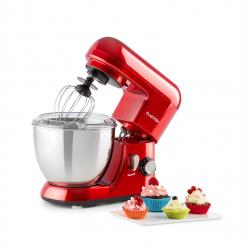 Bella Pico Mini-Küchenmaschine 800W 1,1PS 6 Stufen 4 Liter rot Rot