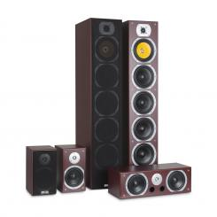 V9B Surround Lautsprecher Set 5 Boxen Set 440W  RMS Mahagoni