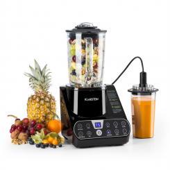 Airakles Vakuum-Standmixer 1300 W 2 PS 26000 U/min 1,5 l Glaskanne schwarz Schwarz