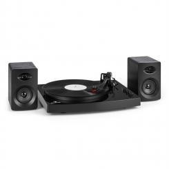"""TT-Play Plattenspieler 2 Stereoboxen (3""""/10W) Bluetooth Geschwindigkeiten: 33 1/3 & 45 U/min Schwarz"""
