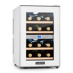 Reserva Weinkühlschrank 34l 2 Kühlzonen 12 Weinflaschen 11-18 °C weiß
