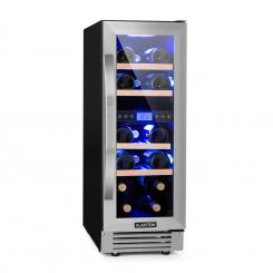 Vinovilla Duo17 Zweizonen-Weinkühlschrank 53l 17 Fl. 3-Farben Glastür