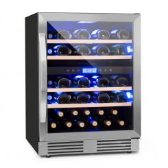 Vinovilla Duo 43 Zweizonen-Weinkühlschrank 129l 43 Fl. 3-Farben Glastür 43 Ltr | 2 Kühlzonen