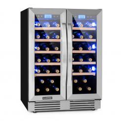 Vinovilla Duo 42 Zweizonen-Weinkühlschrank 126l  42 Fl. 3-Farben Glas 42 Ltr | 2 Kühlzonen