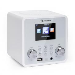 auna IR-120 Internetradio WLAN DNLA UPnP App-Control weiß Weiß