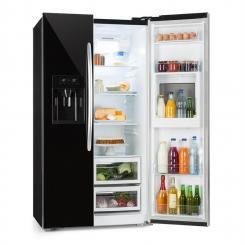 Grand Host XXL Kühlschrank 550 Liter Eis- und Wasserspender A+ schwarz Schwarz
