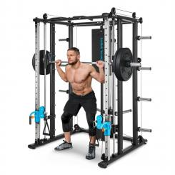 Pro Amaze Smith Machine Cable Cross Bizeps- & Trizeps-Curl Klimmzugstange