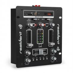 DJ-25 DJ-Mixer Mischpult Verstärker Bluetooth USB Schwarz