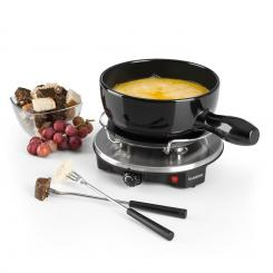 Sirloin Fondue-Set Käsefondue Raclette | 1200 Watt | Keramiktopf | Thermostat | Edelstahlgabeln