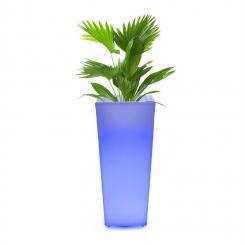 Starflower LED-Blumentopf UV-stabil Polyethylen Fernbedienung eckig