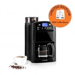 Aromatica Kaffeemaschine Mahlwerk 10 Tassen Glaskanne Aroma+ schwarz Schwarz | Glaskanne