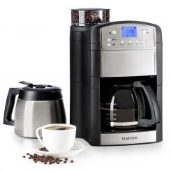 Aromatica Set Kaffeemaschine Mahlwerk Glas-/Thermoskanne Edelstahl stainless_steel_brushed | Glas- & Thermoskanne