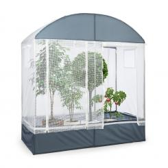 Plant Palace Gewächszelt 200x220x100 cm Stahlrohr Ø25mm PVC-Gitterfolie