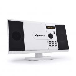 auna MCD-82 DVD-Player Stereoanlage USB SD weiß Weiß