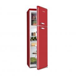 Audrey Retro Retro-Kühl-Gefrier-Kombination 194 / 56 Liter A++ rot Rot