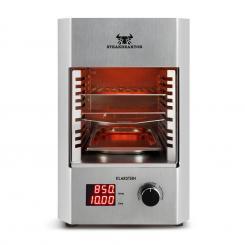 Steakreaktor 2.0 - Edelstahl Edition - Indoor Grillgerät Hochtemperaturgrill 1600W 850°C Silber