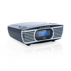 Dreamee DAB+ Radiowecker CD-Player DAB+/UKW CD-R/RW/MP3 AUX Alarm Retro schwarz Schwarz