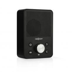 Plug+Play FM Steckdosen-Radio, UKW-Tuner, USB, BT, schwarz Schwarz