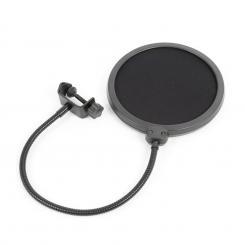 M06 Mikrofon Pop Filter 6'' Schutzschirm flexibler Schwanenhals