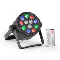 PLS25 Par LED-Strahler 12x1W RGBW LEDs Akkubetrieb Fernbedienung