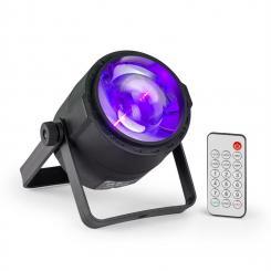 PLS30 Spot 10W 4in1 RGBW 6 DMX-Kanäle Akku LED-Display Fernbedienung