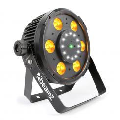 BX100 PAR LED-Scheinwerfer 6x 6W 4in1-RGBW-LEDs 12x Strobe-LEDs RG-Laser