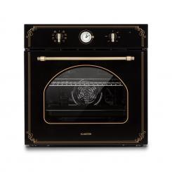 Victoria Einbaubackofen Retro-Design 9 Funktionen 50-250°C schwarz Schwarz