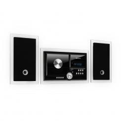 Stereosonic Stereo System, Wandmontage, CD-Player, USB, BT, schwarz Schwarz