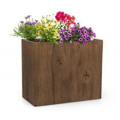 Timberflor Pflanztopf 60 x 50 x 30 cm Fiberglas In-/Outdoor braun 60 x 50 x 30 cm