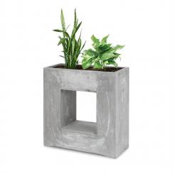 Airflor Pflanztopf 70 x 70 x 27 cm Fiberglas In-/Outdoor hellgrau light_grey