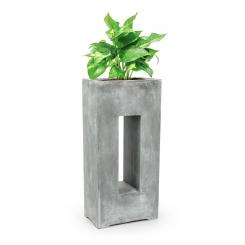 Airflor Pflanztopf 45 x 100 x 27 cm Fiberglas In-/Outdoor hellgrau light_grey