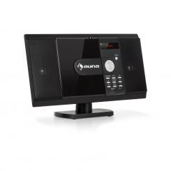 MCD-82 BT Vertikal-Stereoanlage DVD/CD Bluetooth USB/SD UKW HDMI schwarz Schwarz