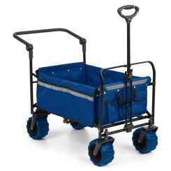 Easy Rider Bollerwagen bis 70kg Teleskopstange zusammenklappbar blau Blau