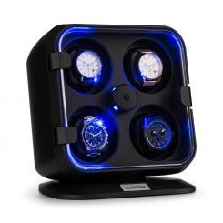 Clover Uhrenbeweger | 4 Uhren | 3 Rotationen | 4 Geschwindigkeiten | blaue LED-Beleuchtung | Kunststoffgehäuse
