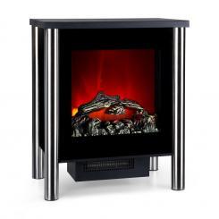Copenhagen-Premium Elektrischer Kamin 950/1900W Thermostat LED-Flammenillusion schwarz