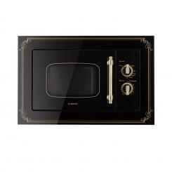 Victoria 20 Einbau-Mikrowelle, 20 l, 800 W, Grill: 1000 W, schwarz Schwarz