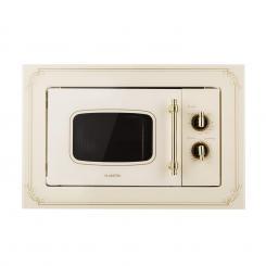 Victoria 20 Einbau-Mikrowelle, 20 l, 800 W, Grill: 1000 W, elfenbein Ivory